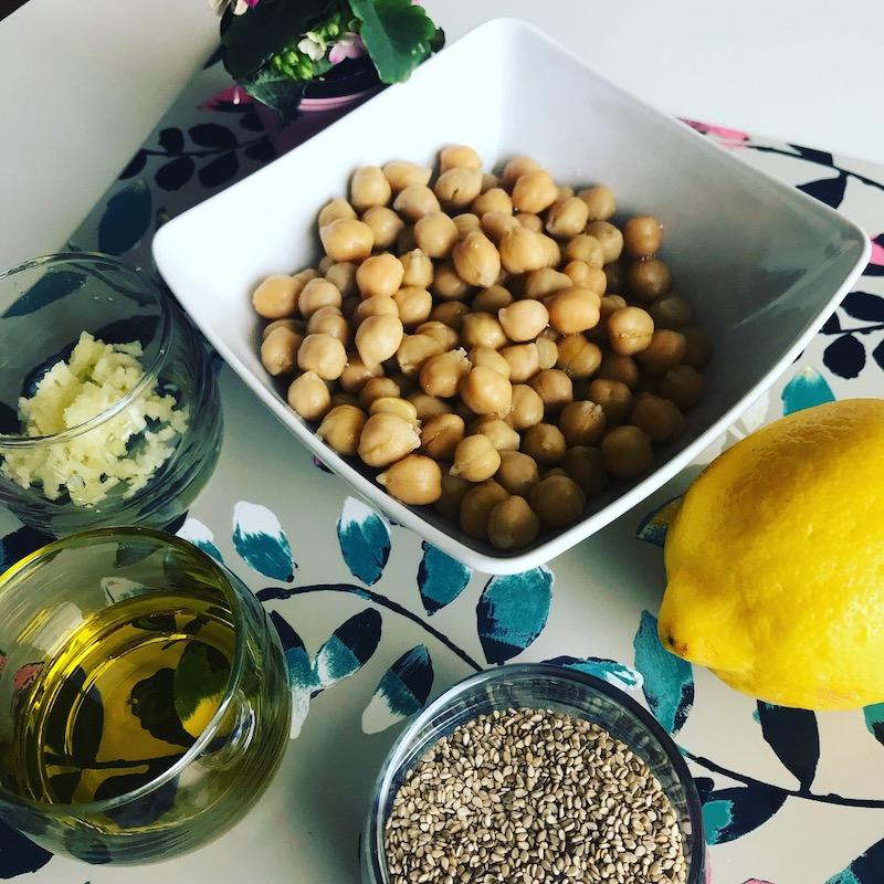 recette végétarienne houmous express protéines