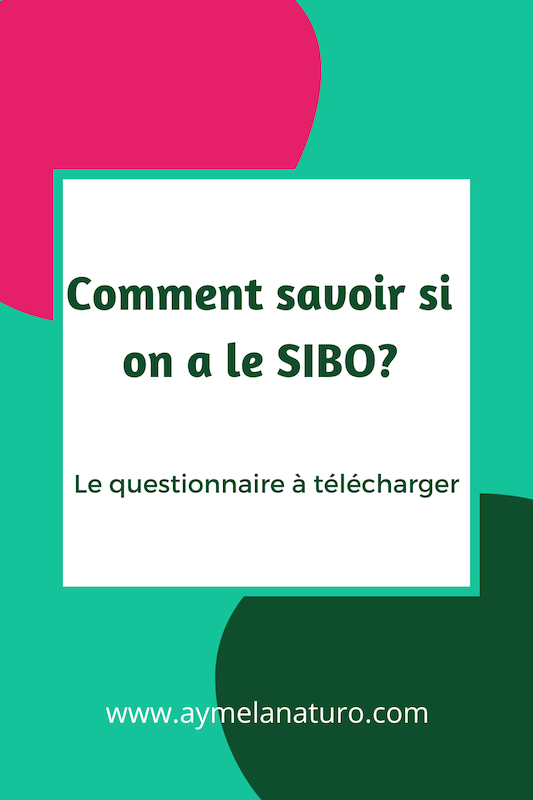 comment savoir si on a le SIBO  Questionnaire test