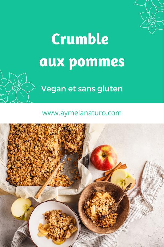crumble aux pommes vegan sans gluten sans beurre