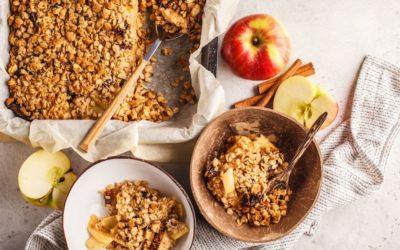 Crumble aux pommes sans beurre et sans gluten