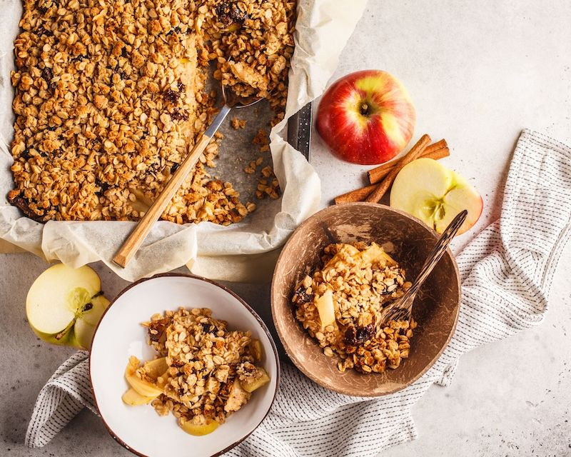 recette crumble pomme sans beurre sans gluten facile