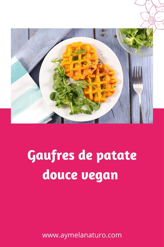 gaufre patate douce recette vegan sans gluten végétalien